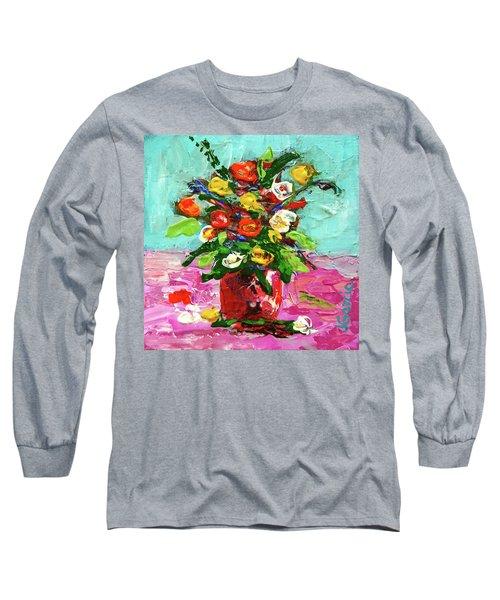 Floral Arrangement Long Sleeve T-Shirt by Janet Garcia