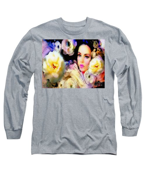 Floral Mosaic She In Thick Paint Long Sleeve T-Shirt