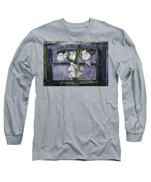 Long Sleeve T-Shirt featuring the photograph Floral Window Frame by Bonnie Willis