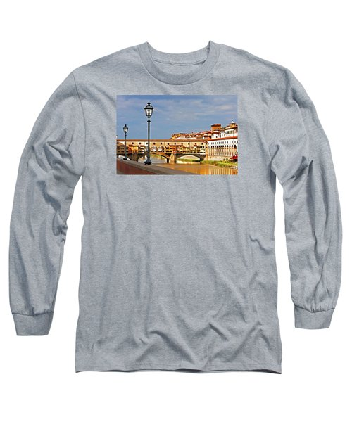 Long Sleeve T-Shirt featuring the photograph Florence Arno River View by Dennis Cox WorldViews