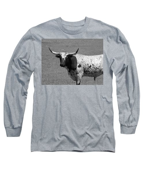 Florida Longhorn Black And White Photo Long Sleeve T-Shirt
