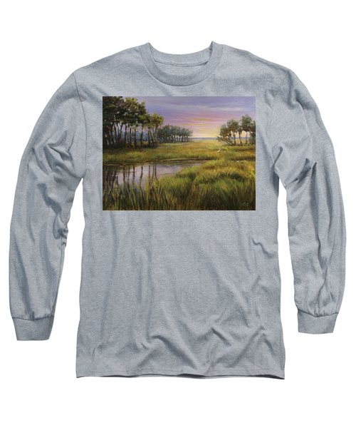 Florida Marsh Sunset Long Sleeve T-Shirt