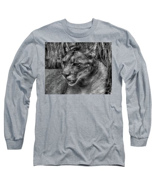 Florida Panther Long Sleeve T-Shirt by Myrna Bradshaw