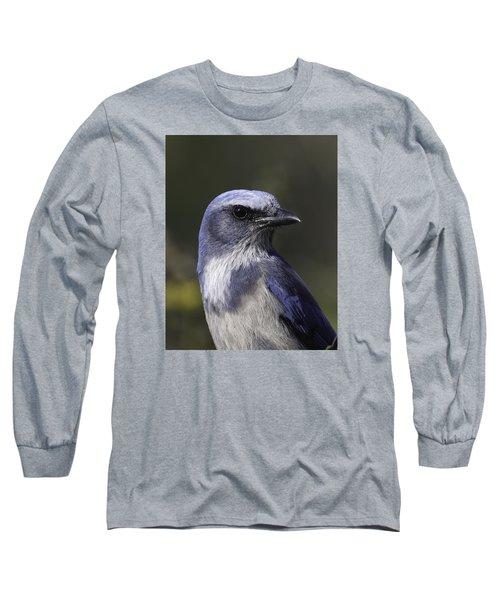 Florida Scrub Jay Long Sleeve T-Shirt by Elizabeth Eldridge