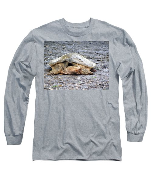 Long Sleeve T-Shirt featuring the photograph Florida Softshell Turtle 001 by Chris Mercer