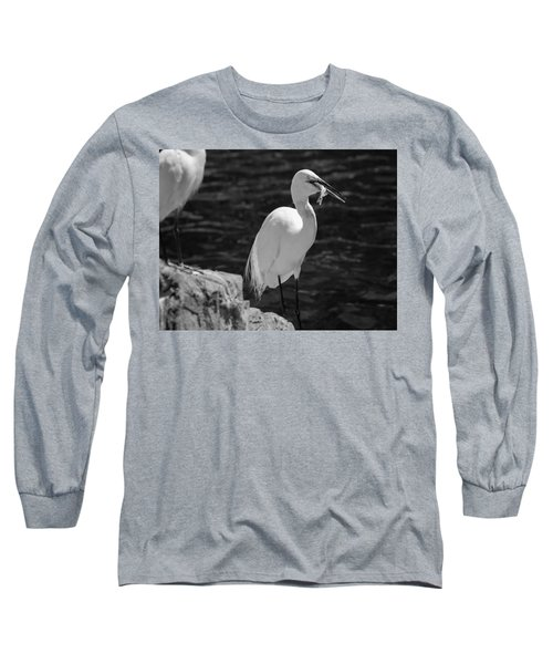 Florida White Egret Long Sleeve T-Shirt