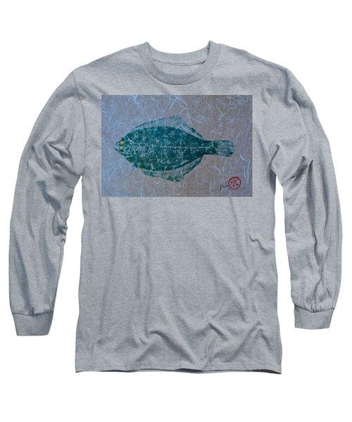 Flounder - Winter Flounder - Black Back Long Sleeve T-Shirt