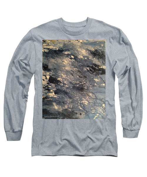 Long Sleeve T-Shirt featuring the painting Flow by Denise Tomasura