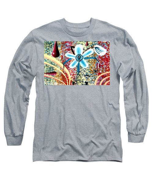 Flower And Ant Long Sleeve T-Shirt by Luke Galutia