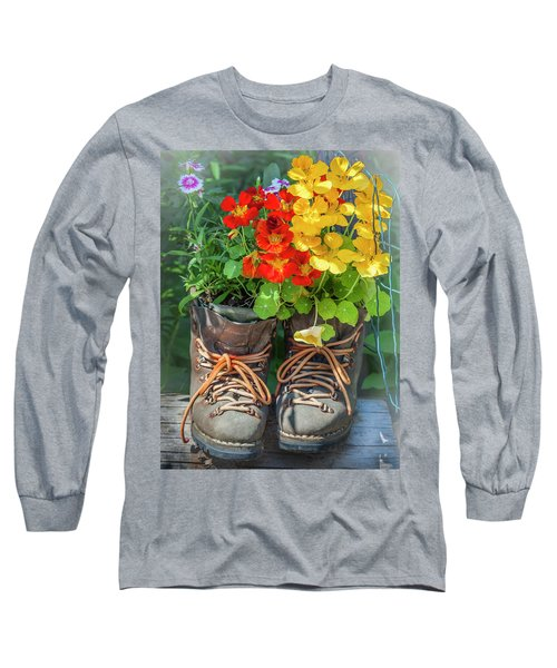 Flower Boots Long Sleeve T-Shirt