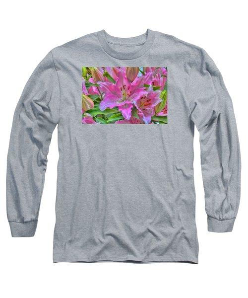 Flower Delight Long Sleeve T-Shirt by Nadia Sanowar
