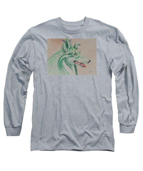 Flower Dog # 11 Long Sleeve T-Shirt by Hilda and Jose Garrancho