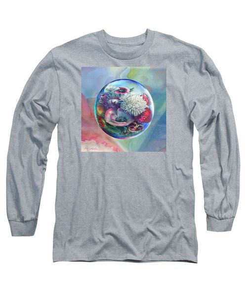 Flower Drop Blues Long Sleeve T-Shirt