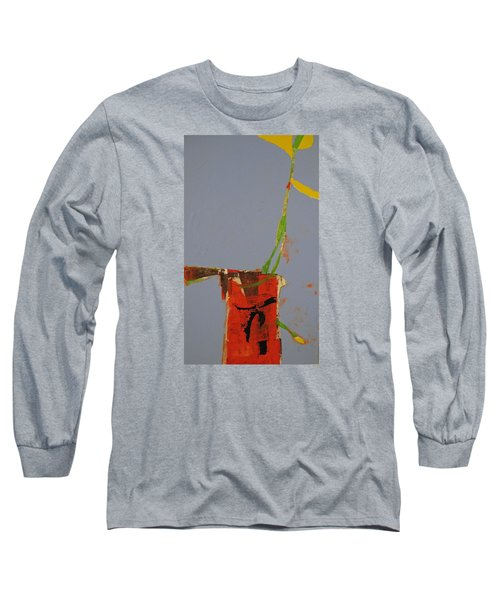 Long Sleeve T-Shirt featuring the painting Flower In Pitcher- Abstract Of Course by Cliff Spohn