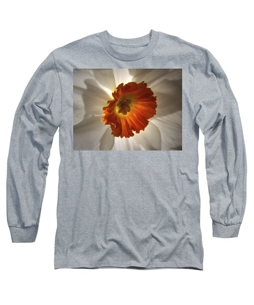 Long Sleeve T-Shirt featuring the photograph Flower Narcissus by Nancy Griswold