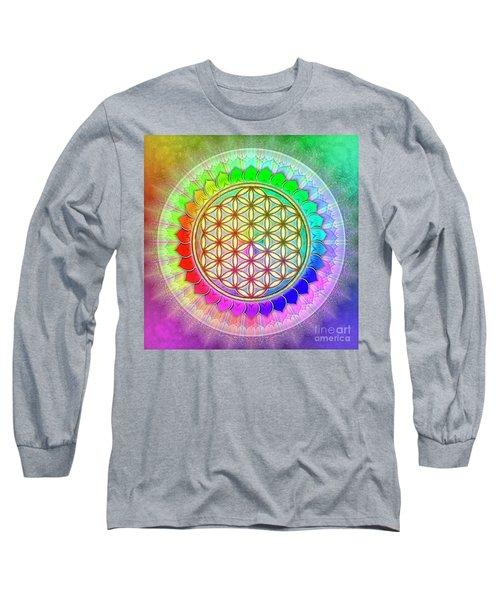 Flower Of Live - Rainbow Lotus 2 Long Sleeve T-Shirt