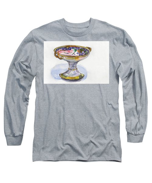 Flower Pedestal Dish Long Sleeve T-Shirt