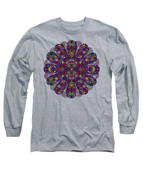 Flower Power Doodle Art Long Sleeve T-Shirt