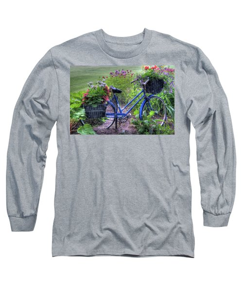 Flowered Bicycle Long Sleeve T-Shirt