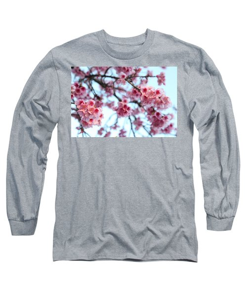 Long Sleeve T-Shirt featuring the photograph flowering of the almond tree, Jerusalem by Yoel Koskas
