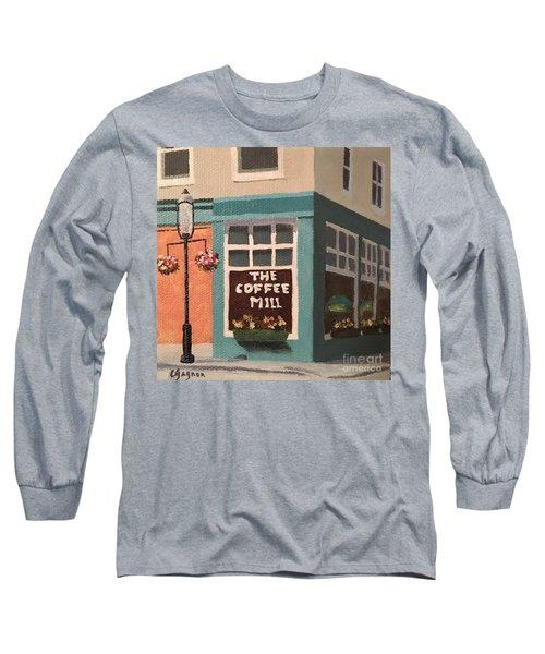 Flowers At Coffee Mill Mini Long Sleeve T-Shirt