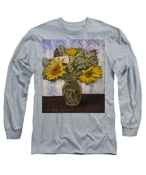 Flowers For Janice Long Sleeve T-Shirt by Ron Richard Baviello