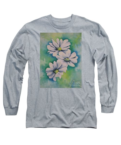 Long Sleeve T-Shirt featuring the painting Flowers For You by Chrisann Ellis