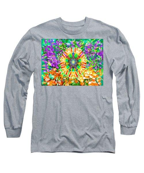 Flowers Mandala Long Sleeve T-Shirt