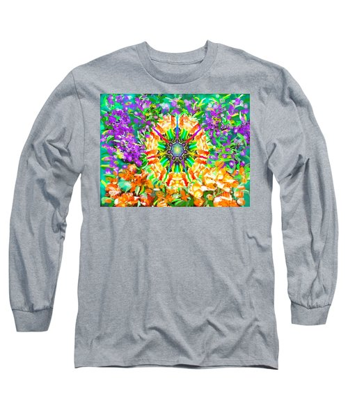 Flowers Mandala Long Sleeve T-Shirt