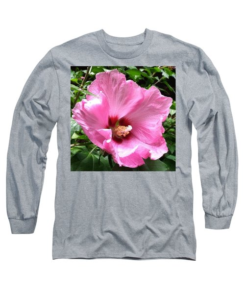 #flowers #pink #floral Long Sleeve T-Shirt