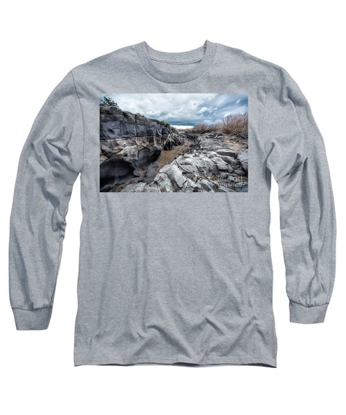 Flowing To The Storm Idaho Journey Landscape Art By Kaylyn Franks Long Sleeve T-Shirt