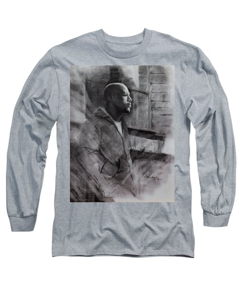 Reflections Of Floyd Mayweather Long Sleeve T-Shirt by Noe Peralez