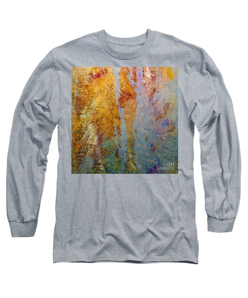 Long Sleeve T-Shirt featuring the mixed media Fluid by Michael Rock