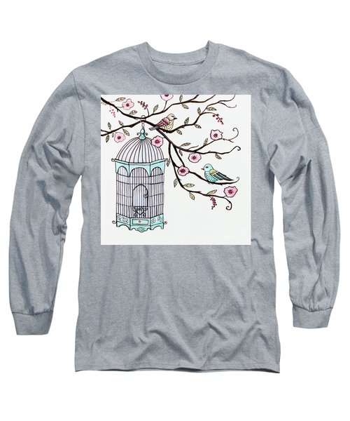 Fly Free Long Sleeve T-Shirt by Elizabeth Robinette Tyndall