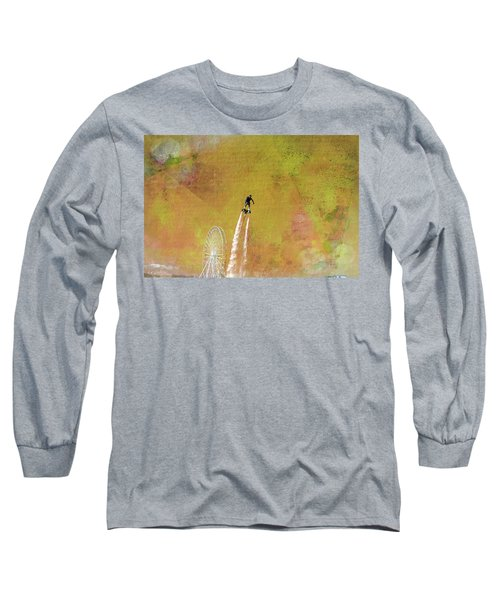 Flyboard, Sketchy And Painterly Long Sleeve T-Shirt