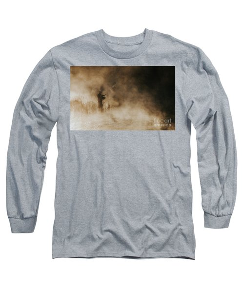 Long Sleeve T-Shirt featuring the photograph Flying Fishing by Iris Greenwell
