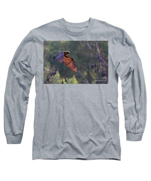 Flying Fox In Mid Air Long Sleeve T-Shirt