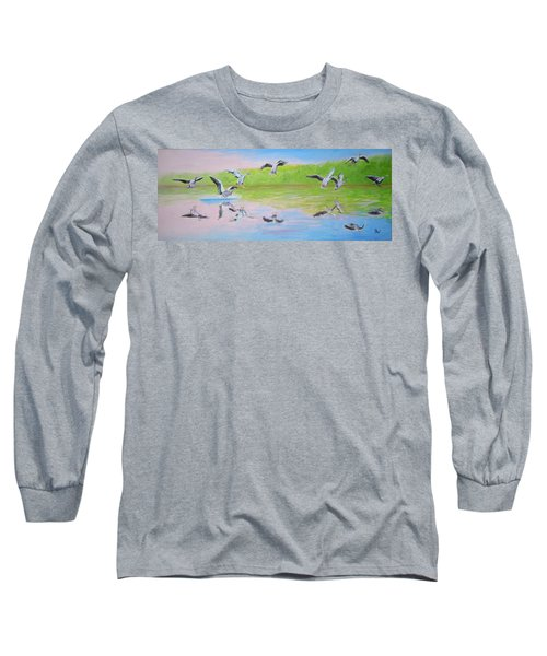 Flying Geese Long Sleeve T-Shirt