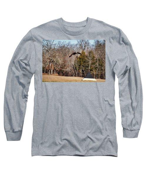 Flying Over Cloud Field Long Sleeve T-Shirt by TnBackroadsPhotos