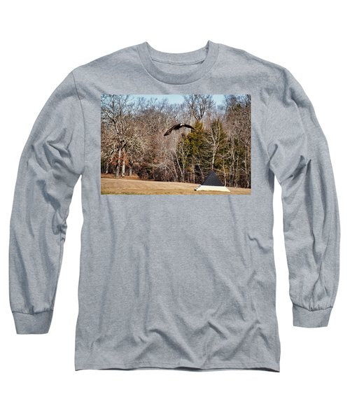 Flying Over Cloud Field Long Sleeve T-Shirt