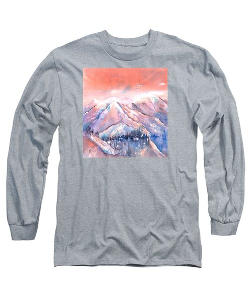 Flying Over The Mountains Long Sleeve T-Shirt
