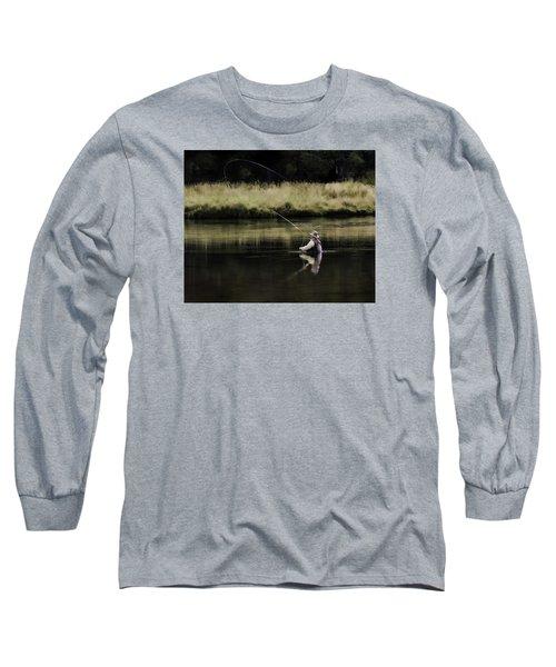 Flying Solo Long Sleeve T-Shirt by Elizabeth Eldridge