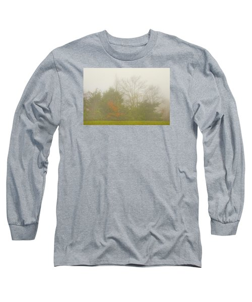 Long Sleeve T-Shirt featuring the photograph Fog In Autumn by Wanda Krack