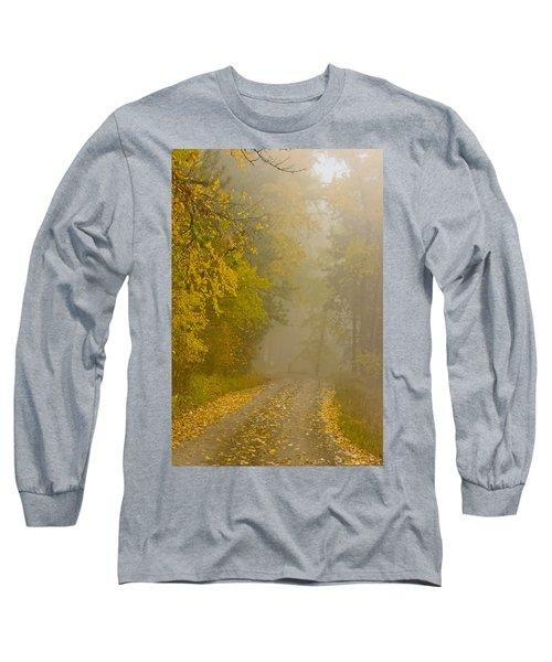Foggy Autumn Morn Long Sleeve T-Shirt