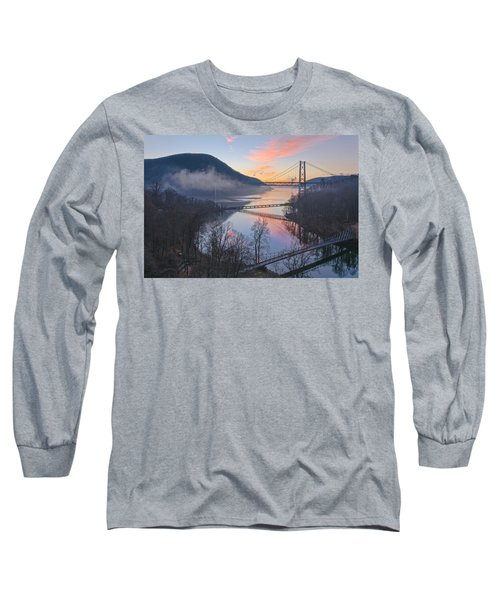 Foggy Dawn At Three Bridges Long Sleeve T-Shirt