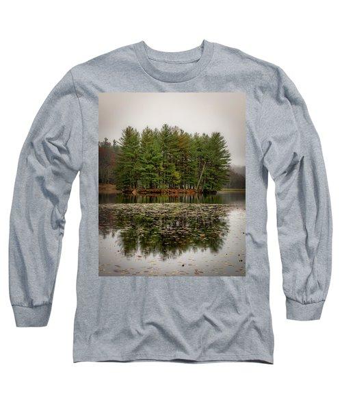 Foggy Island Reflections Long Sleeve T-Shirt