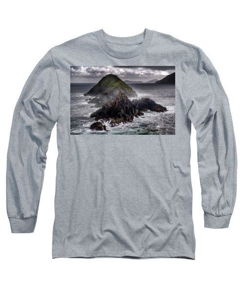 Foggy Islands In Western Ireland Long Sleeve T-Shirt