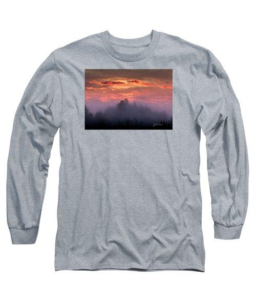 Foggy Mist At Dawn Long Sleeve T-Shirt by E Faithe Lester