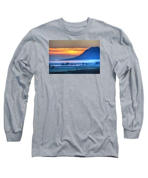 Foggy Morning Long Sleeve T-Shirt by Fiskr Larsen