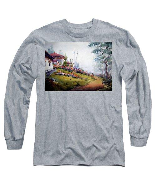 Foggy Mountain Village Long Sleeve T-Shirt